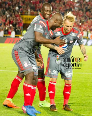En imágenes la celebración del gol con que América derrotó a Santa Fe