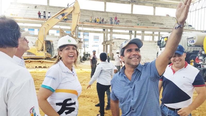 La directora de Coldeportes, Clara Luz Roldán inspecciona los escenarios de los Juegos Centroamericanos 2018