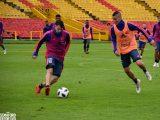 James Rodríguez y Falco estuvieron en el entrenamiento de este jueves de la Selección Colombia
