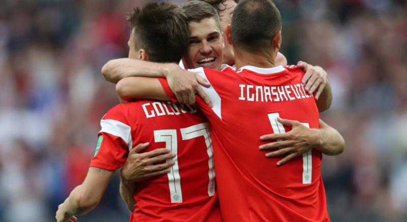 Los goles de la victoria de Rusia ante Arabia Saudita