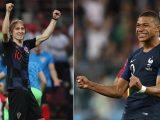Francia vs Croacia el partido 64 de Rusia 2018