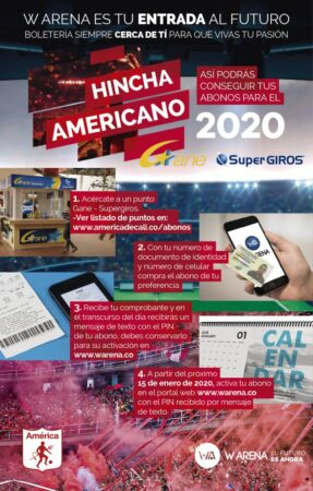 Así puede comprar los abonos del América de Cali apra el 2020-1