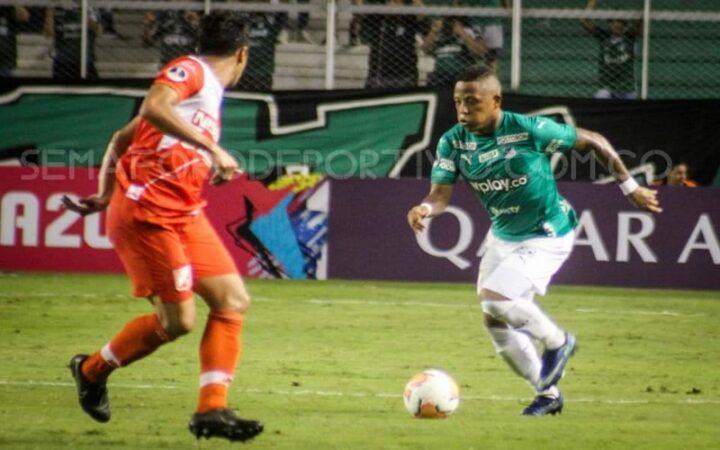 Jhon Vásquez delantero del Deportivo Cali suspendido por 3 partidos en Copa Sudamericana