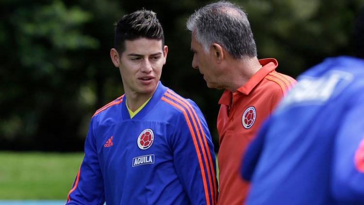 James Rodríguez diche que no llegará a la Selección Colombia a ser suplente