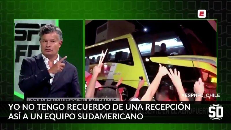 Recibimiento al América de Cali en Chile sorprendió a periodistas de ESPN FC