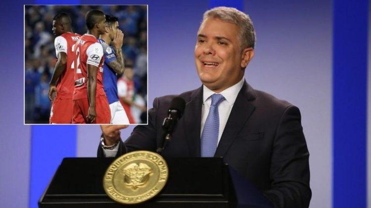"""""""No hay condiciones"""" dice Duque sobre la Liga Betplay Dimayor"""