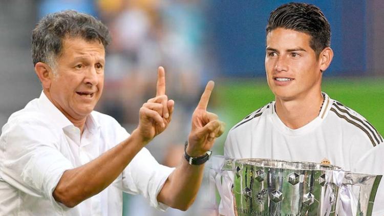 Juan Carlos Osorio, técnico de Nacional, y James Rodríguez, jugador del Real Madrid