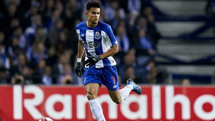 Luis Díaz, jugando en el Oportom, campeón de la Copa de Portugal