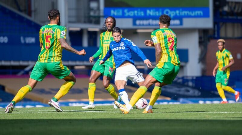 James Rodríguez: gol, asistencia y golpeado en la victoria del Everton
