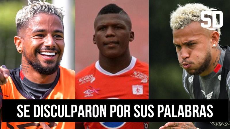 Duván Vergara, Yesus Cabrera y Marlon Torres de América de Cali se disculpan por sus declaraciones sobre Teófilo Gutiérrez