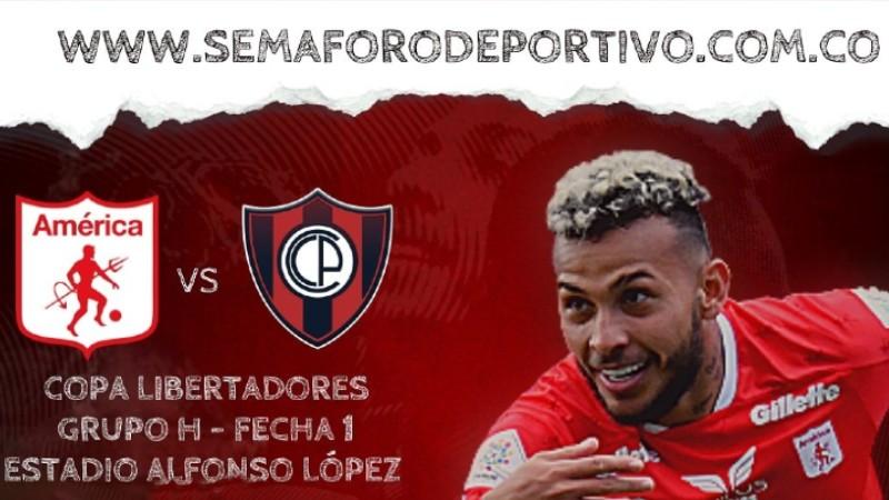 América de Cali vs Cerro Porteño en vivo y en directo por la Copa Libertadores