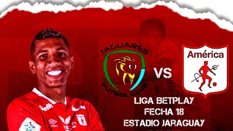 Jaguares vs América de Cali en vivo y en directo por la Liga Betplay