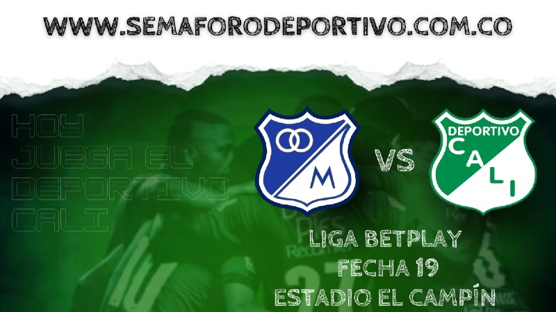 Millonarios vs Deportivo Cali en vivo y en directo por la Liga Betplay
