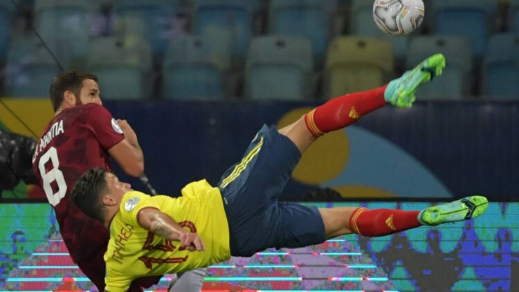 Selección Colombia: el golazo de Mateus Uribe que no pudo ser por atajada de Wuilker Faríñez